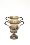 Pair of antique chalices Royalty Free Stock Photo