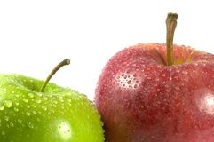 Pair of apples Stock Photos