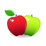 Pair of apples Royalty Free Stock Photography