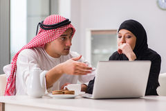 The pair of arab man and woman. Pair of arab men and woman Royalty Free Stock Photography