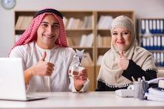 The pair of arab man and woman. Pair of arab men and woman Stock Photos