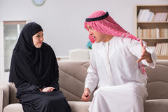 The pair of arab man and woman Royalty Free Stock Images