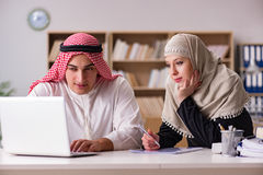 The pair of arab man and woman Royalty Free Stock Photos