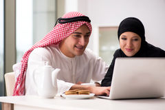 The pair of arab man and woman. Pair of arab men and woman Stock Images