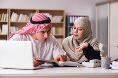The pair of arab man and woman. Pair of arab men and woman Royalty Free Stock Images