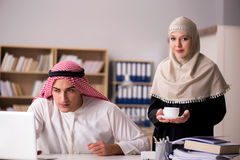 The pair of arab man and woman Stock Photos