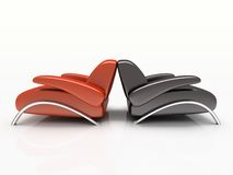 Pair of armchairs Royalty Free Stock Photo