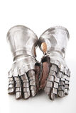 A pair of armored gloves Royalty Free Stock Image