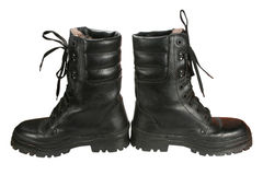 Pair of army boots. It is isolated not a white background Stock Images
