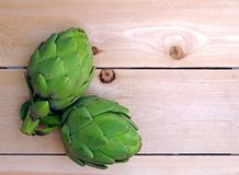 A pair of artichokes Stock Photo