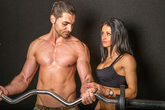 Couple working out together Royalty Free Stock Image
