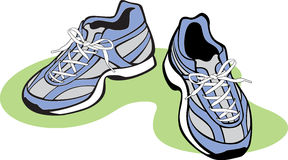Pair of Athletic Shoes Stock Images