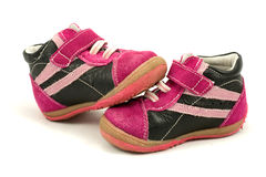 Pair of baby shoes Stock Images