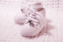 Pair Of Baby Shoes 3 stock photo