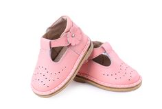 Pair of baby shoes over Royalty Free Stock Photography