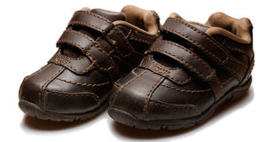 Pair of baby shoes Stock Photography