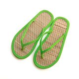 Pair of bamboo flip flops Stock Image
