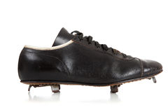 Pair of baseball cleats on white Royalty Free Stock Photos