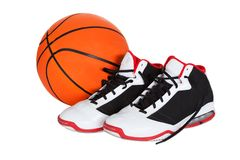 Pair of basketball shoes Royalty Free Stock Image