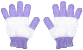 Pair of Bath Gloves Stock Photos