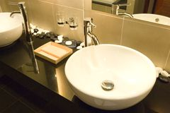 Pair of bathroom sinks Stock Image