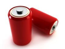 Pair batteries. The pair batteries 3d rendering Royalty Free Stock Photography
