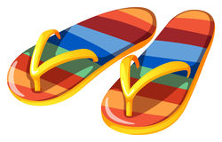 A pair of beach slippers Royalty Free Stock Photo
