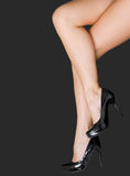 Pair of beautiful female legs Stock Photos