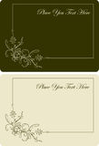 Pair of beautyful visit-cards. Vector. Illustration Stock Photography