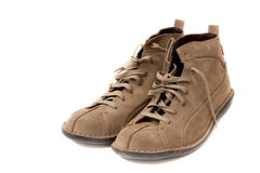 Pair of beige shoes Stock Image