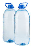 Pair of big bottles of water Royalty Free Stock Photos