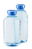 Pair of big water bottles Stock Photos