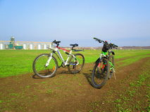 A pair of bikes, Kamenets Podolskiy, Ukraine Royalty Free Stock Photo