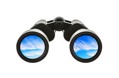 Pair of Binoculars with blue sky Royalty Free Stock Image