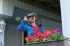 A pair of binoculars. Royalty Free Stock Photo