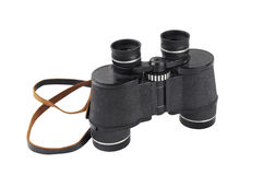 Pair of black binoculars Royalty Free Stock Images