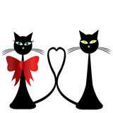 Pair of black cats Royalty Free Stock Image