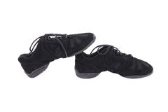 Pair of black dance shoes. Royalty Free Stock Photography