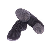 Pair of black dance shoes. Royalty Free Stock Photos