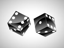 Pair of black dice Royalty Free Stock Photography