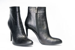 Pair of black female boots Royalty Free Stock Photo