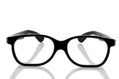 A pair of black framed nerdy eye glasses Stock Photos