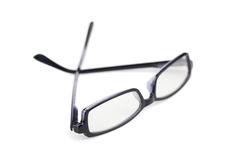 Pair of black glasses isolated Stock Photography