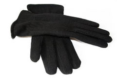 Pair of black gloves Stock Photos