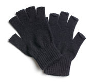 Pair of black gloves Stock Image