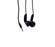Pair of black headphones Stock Photography
