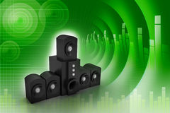 Pair of black high gloss music speakers Royalty Free Stock Photography