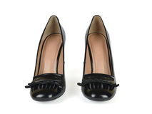 Pair of Black High Heel Loafer Shoes Royalty Free Stock Photo
