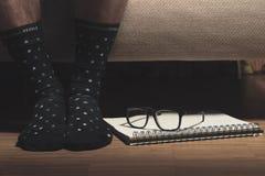 Pair of Black High Socks Royalty Free Stock Photography