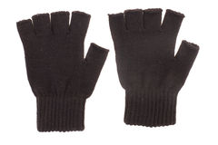 Pair of black knitted gloves Stock Photography